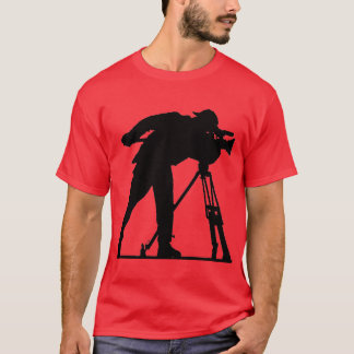 "Red ""Cameraman"" T-Shirt"