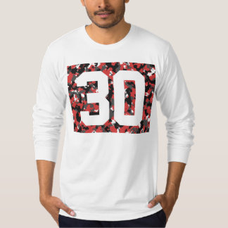 Red Camo 30 Sleeved-T T-Shirt