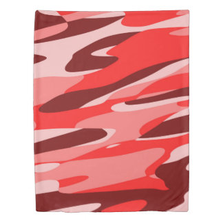 red camo abstract duvet cover