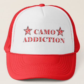Red Camo Addiction Trucker Hat