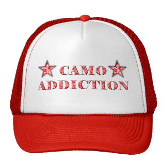 Red Camo Addiction Trucker Hat