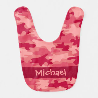 Red Camo Camouflage Name Personalized Bib
