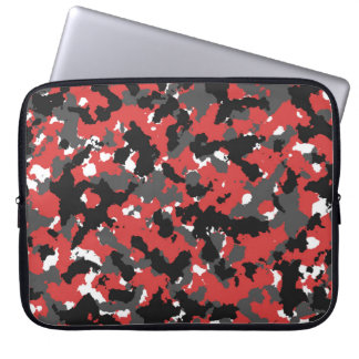 Red camo laptop sleeve