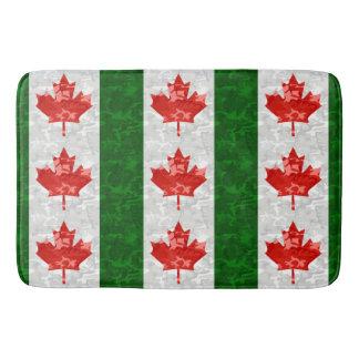 Red Camo Maple Leaf Bathroom Mat