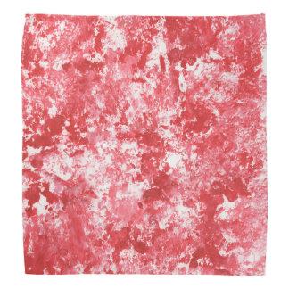 Red Camo Splatter Painting Bandana