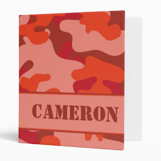 Red Camouflage (Camo) | Personalized Binders