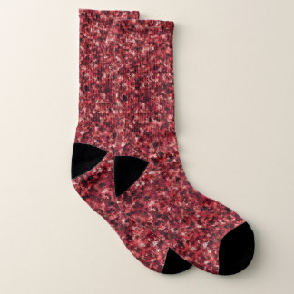 Red Camouflage Large All-Over-Print Socks