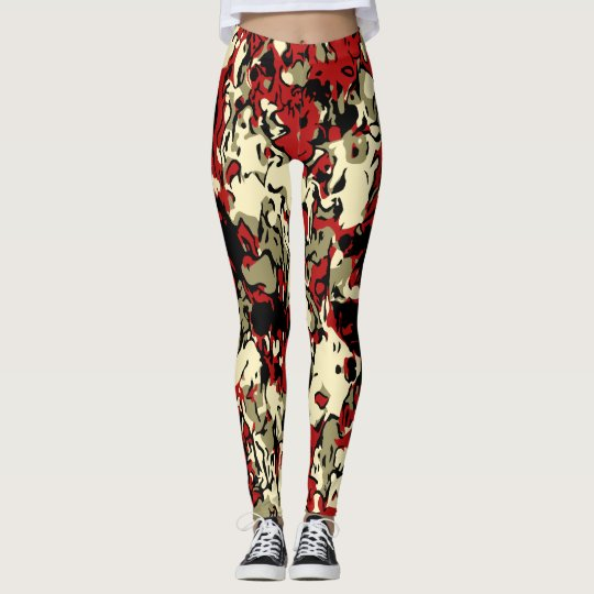 Red Camouflage Leggings