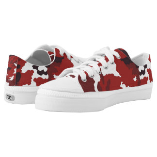 Red Camouflage... Low-Top Sneakers