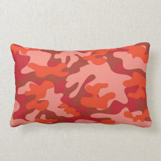 Red Camouflage Lumbar Pillow