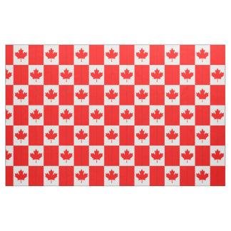 Red Canada Maple Leaf Flag Custom Fabric