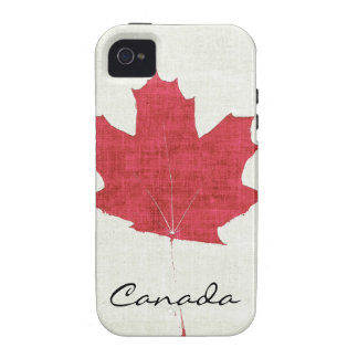red Canadian maple leaf Vibe iPhone 4 Covers