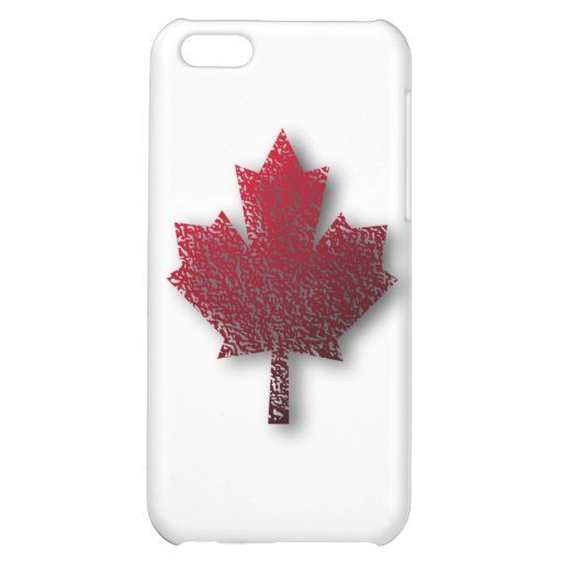 Red Canadian Maple Leaf Cover For iPhone 5C