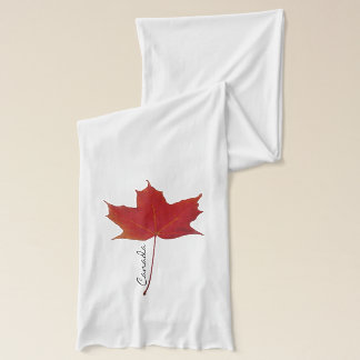 Red canadian maple leaf scarf
