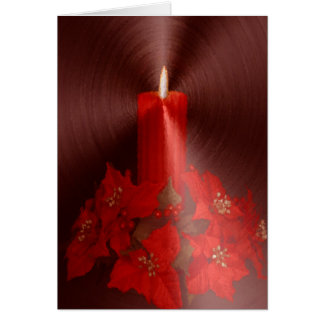 Red Candle Christmas Card Without Front Greeting