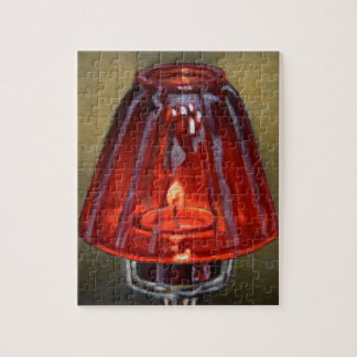 Red Candle Jigsaw Puzzle