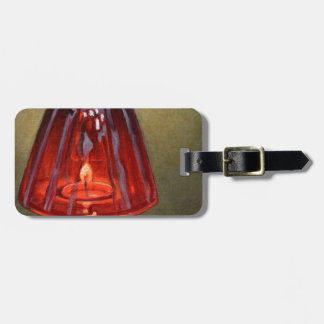 Red Candle Luggage Tag