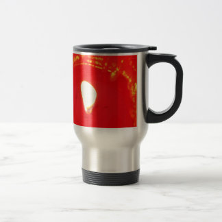 Red Candlelight, Flame , Candle, Christmas Love Stainless Steel Travel Mug
