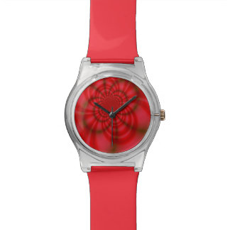 Red Candy Stripes Numberless Watch