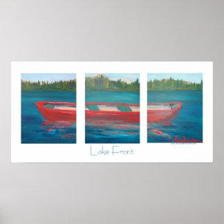 Red Canoe Print