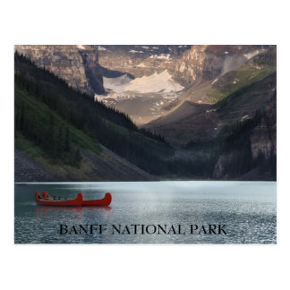 Red Canoes on Lake Louise Postcard