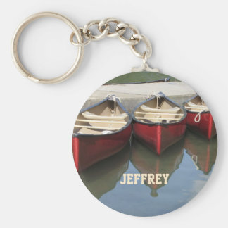 Red Canoes Personalized Keychain (Key Chain)