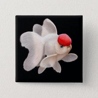 Red Cap Oranda Goldfish Pin