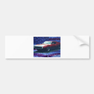 Red Car Bumper Sticker