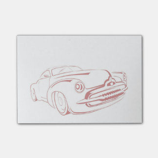 Red Car Outline Post-it® Notes