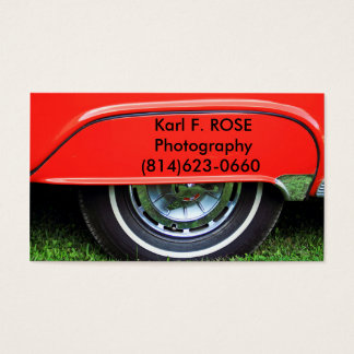 Red car tire business cards