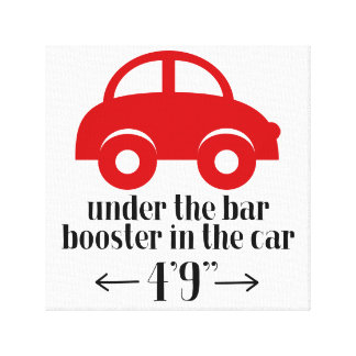 Red Car Wrapped Canvas Sign