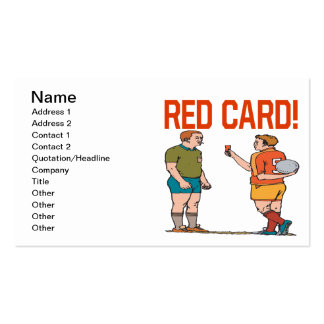 Red Card Pack Of Standard Business Cards