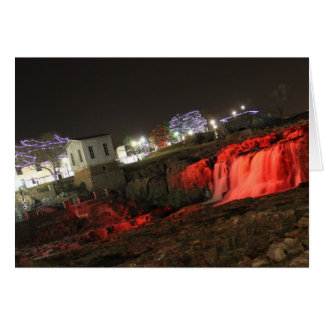 Red card Falls Park Winter Holiday greeting cards