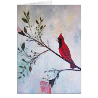 Red Cardinal Art Products at Zazzle by rokinronda Card