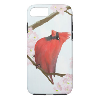 Red Cardinal Bird on a Cherry Blossom Tree iPhone 8/7 Case