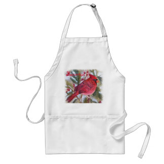 RED CARDINAL BIRD STANDARD APRON