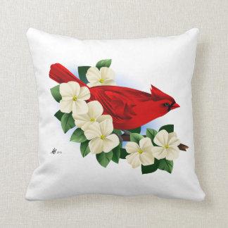 Red Cardinal Bird Throw Pillow