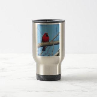 Red Cardinal/Bird Travel Mug