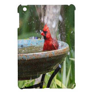red cardinal case for the iPad mini
