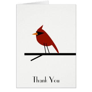 Red Cardinal Customizable Thank You Card