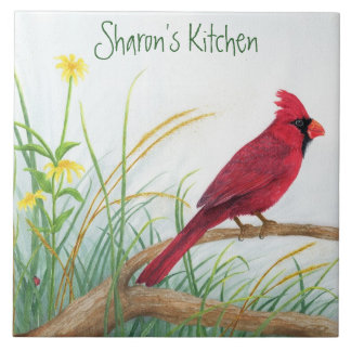 Red Cardinal - Customizable Tile