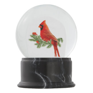 Red Cardinal Happy Holidays Gift Snowglobe