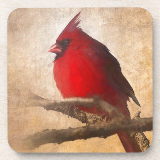 Red Cardinal Painting Coaster