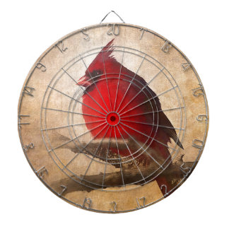 Red Cardinal Painting Dartboard