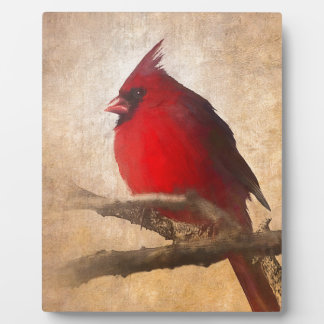 Red Cardinal Painting Plaque