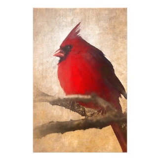 Red Cardinal Painting Stationery