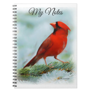 Red Cardinal Print Personalized Notebook