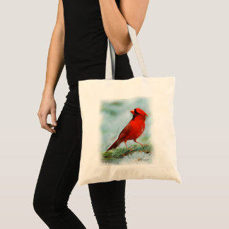 Red Cardinal Print Tote Bag