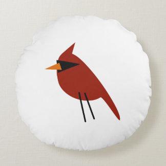 Red Cardinal Round Pillow