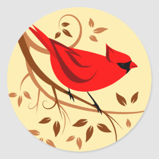 Red Cardinal Stickers
